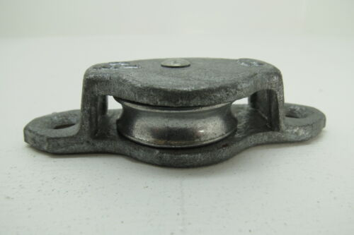 (#125) 1+1/2 INCH  WILCOX CRITTENDEN GALVANIZED STEEL DECK PULLEY BLOCK TACKLE