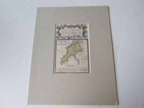 c. 1764 MAP of CARNARVANSHIRE, ENGLAND by OWEN & BOWEN, HAND COLORED