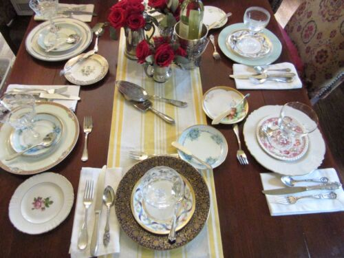Set /16 Service for 4 Mixed Flatware Silverplated Various Pattern Eclectic