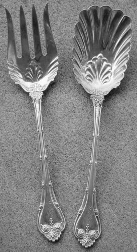 SALAD SERVING SET EMPIRE PATTERN, WHITING STERLING EXCELLENT!