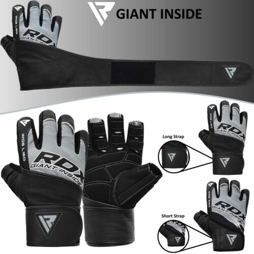 New Gel Weight lifting body building gloves Gym Strap Training Flex Leather