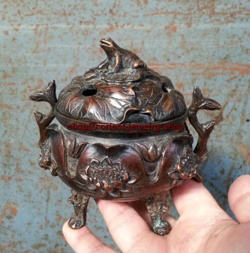 Lotus Pond collects ancient Chinese incense burner Archaic Bronze pattern