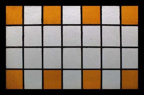 Arts & Crafts Amber English Antique Stained Glass Window