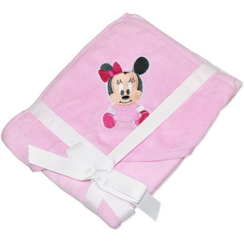 Baby Girl Cotton Polyester Licensed Baby Disney Minnie Mouse Pink Hooded Towel