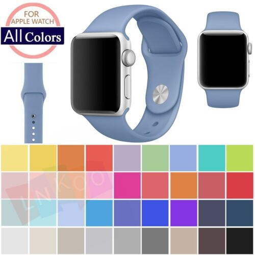 Replacement Silicone Wrist Bracelet Sport Band Strap For Apple Watch 42mm/38mm