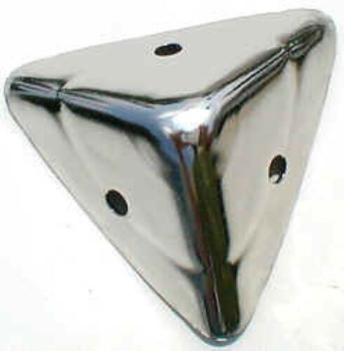 Plain Nickel Plated Trunk Corner cap cover steamer chest antique vintage