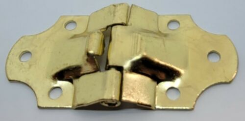 Brass Plated Stamped Steel -  Trunk Stop Hinge, chest, steamer