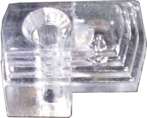 4 Clear Plastic Mirror Mount Clip glass picture screw art wall stick hang new