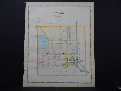 Illinois, Rock Island County, 1905 Map Plat of Reynolds Double-Sided L15#85