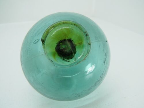 (#1428) RARE DIFFERENT COLOR SEAL tri mold GLASS FLOAT BALL BUOY