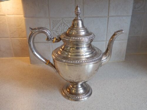 "INTERNATIONAL SILVER ENGLISH GADROON STERLING COFFEE POT 11 1/2"" EX CONDITION!"