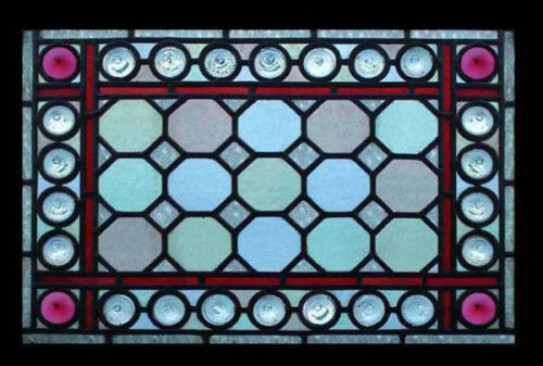 Amazing Victorian Rondels Beauty Antique English Victorian Stained Glass Window