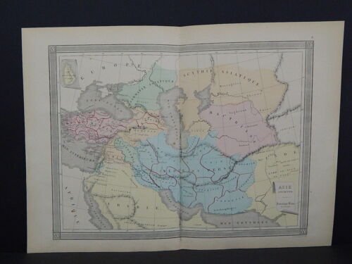 Antique Maps, French Atlas, c. 1870, Hand Color, Asia - Ancient S12