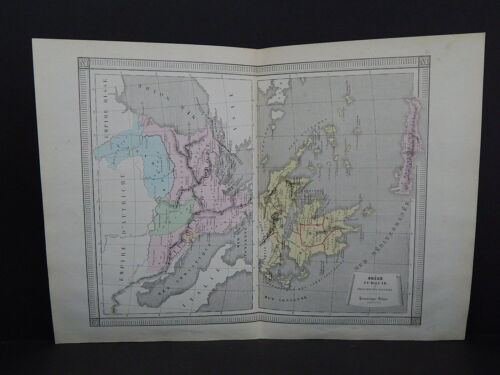 Antique Maps, French Atlas, c. 1870, Hand Color, Greece, Turkey S28