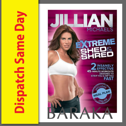 Jillian Michaels - Extreme Shed and Shred DVD (30 Day Shred) New & Sealed