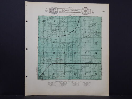 Wisconsin, Walworth County Map, 1930 LaFayette Township L21#40