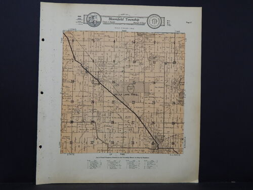 Wisconsin, Walworth County Map, 1930 Bloomfield Township L21#31