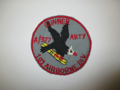 b8115 US Army Vietnam A Battery 377th Aerial Arty Gunner 101 Airborne Div IR36FReproductions - 156445