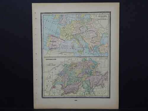 Antique Map 1897, M5#09 Germany