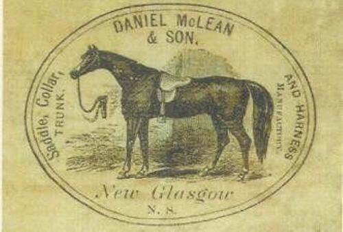 Daniel McLean & Sons Marker Label steamer trunk chest sticker decal interior