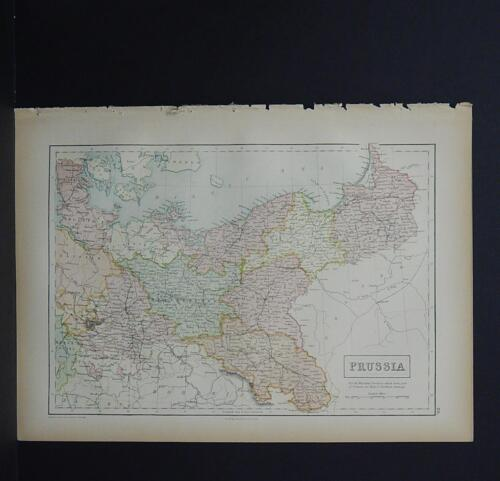 Antique Map, Black's, 1862 Prussia - Germany M7#33