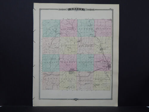 Wisconsin, Map 1881, Green County L23#45