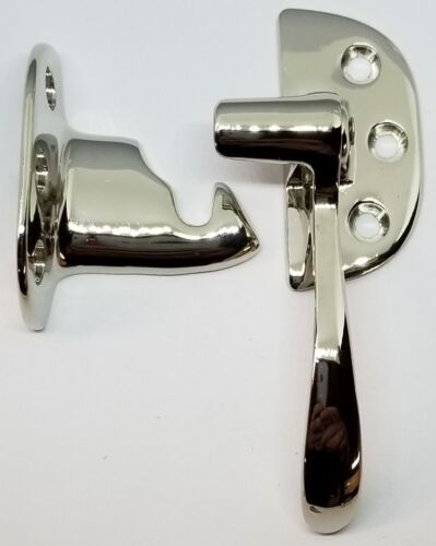 Right Hand Ice Box Latch -Nickel -antique vintage furniture repair restore freez