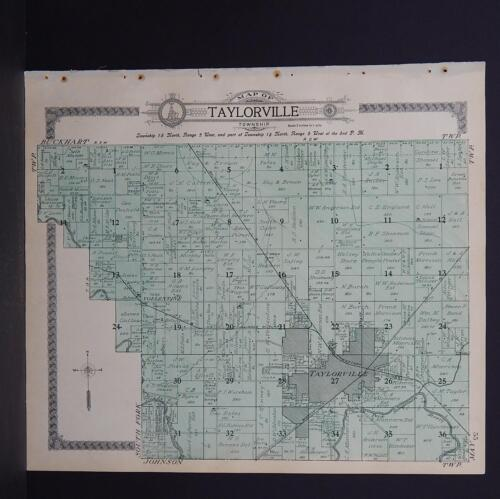 Illinois, Christian County Map, 1911 Taylorville Township L17#96