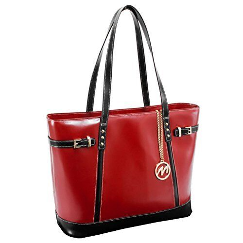 McKlein USA Serafina Leather Shoulder Tote Red SKU 97566