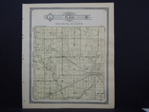 Illinois, Ogle County Map, 1912 Township of Flagg L15#96