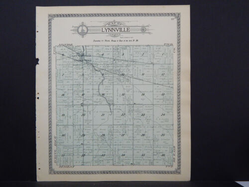 Illinois, Ogle County Map 1912 Township of Lynnville L15#95