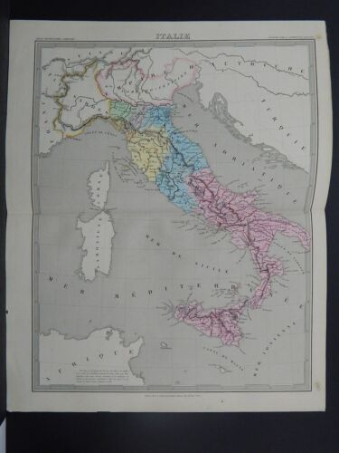 Antique Map, 1845, Italie  Italy  R7#39