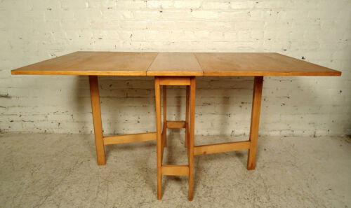 Mid-Century Teak Drop Leaf Table 00907NZ