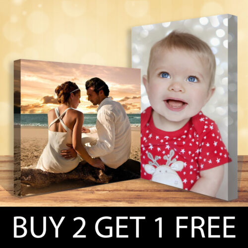 Personalised Photo on Canvas Print Framed A0 A1 A2 A3 A4 A5 Ready to Hang <br/> Buy 3 Get 1 Free✔ Guaranteed UK Lowest Price✔ A+++✔