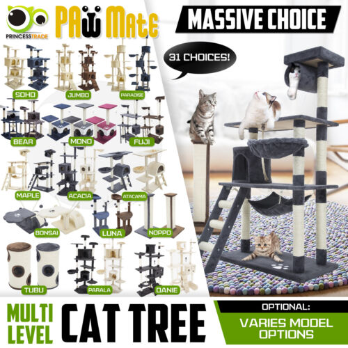 Cat Tree Scratching Post Scratcher Pole Gym Toy House Furniture Multi Level  <br/> Australian Seller, Premium Quality, Great Deal!