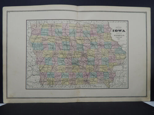 Iowa, Antique State Map, 1886 N1#18
