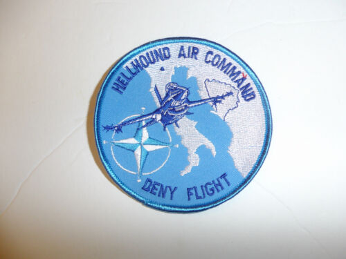 b3869 United Nations UN Hellhound Air Command Deny Flight patch Bosnia R2AReproductions - 156452