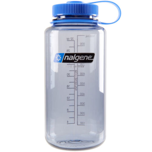 Nalgene Tritan Wide Mouth Water Bottle - 32 oz. - Gray/Blue <br/> #1 Seller of Nalgene - Over 450,000 Feedbacks