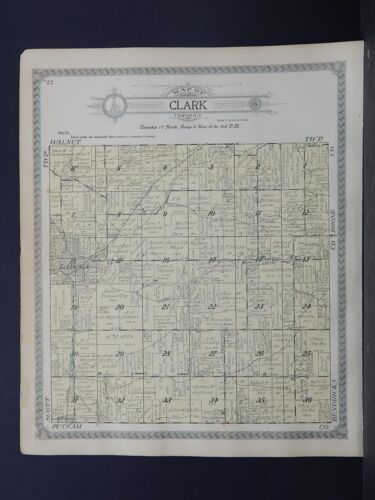 Indiana, Montgomery County Map, 1917 Township of Clark P1#122
