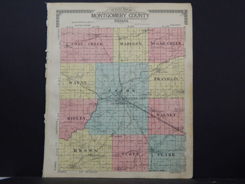 Indiana, Montgomery County Map, 1917, P2#10