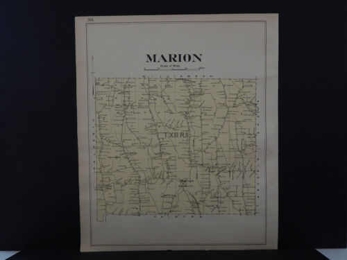 New York, Wayne County Map, 1904 Township of Marion Q3#21