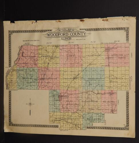 Illinois Woodford County Map, 1912 O1#98
