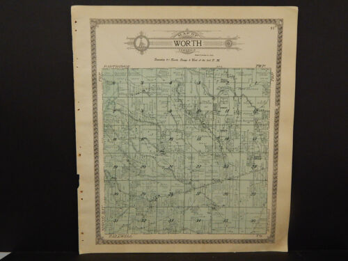 Illinois Woodford County Map, 1912 Township of Worth Q3#48