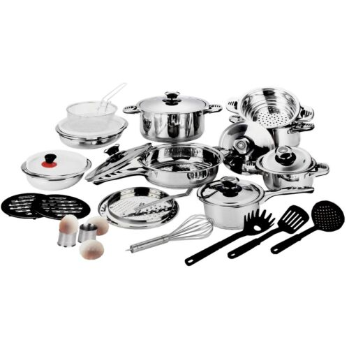 Stainless Steel 29pcs Cookware Set Silver   <br/> Paypal Accepted✔Same Business Day*Dispatch✔Powerseller✔