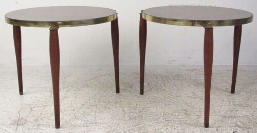 Pair of Mid-Century Modern Formica Top End Tables (1142)NJ