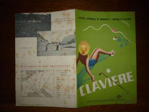 CLAVIERE GOLF 1941 Fascismo brochure pubblicita illustrato