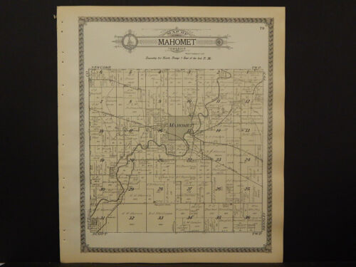 Illinois, Champaign County Map, 1913 Township of Mahomet Q3#66