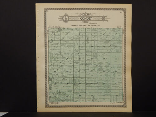 Illinois, Champaign County Map, 1913 Township of Condit Q3#73