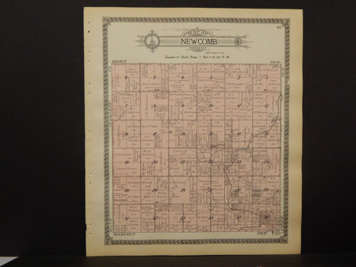 Illinois, Champaign County Map, 1913 Township of Newcomb Q3#74