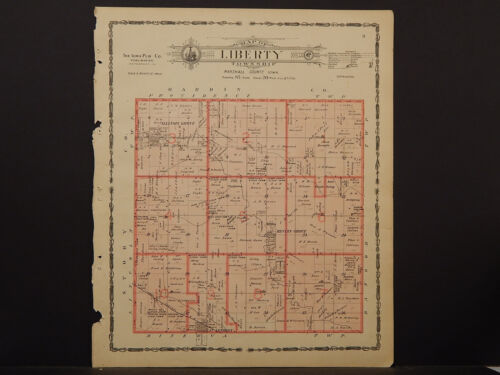 Iowa, Marshall County Map, 1907 Township of Liberty P3#75